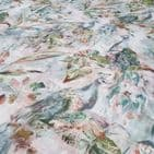 Voyage Maison  Ebba Coral Peacock - Curtains Soft Furnishings Viscose Linen Fabric